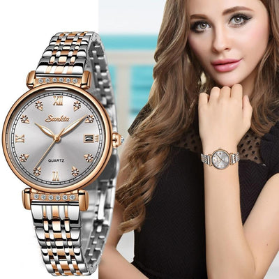 Rose Gold Women Business Quartz Watch - Smart Choice Gears