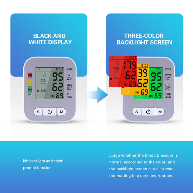 USB Rechargeable Blood Pressure Monitor - Smart Choice Gears