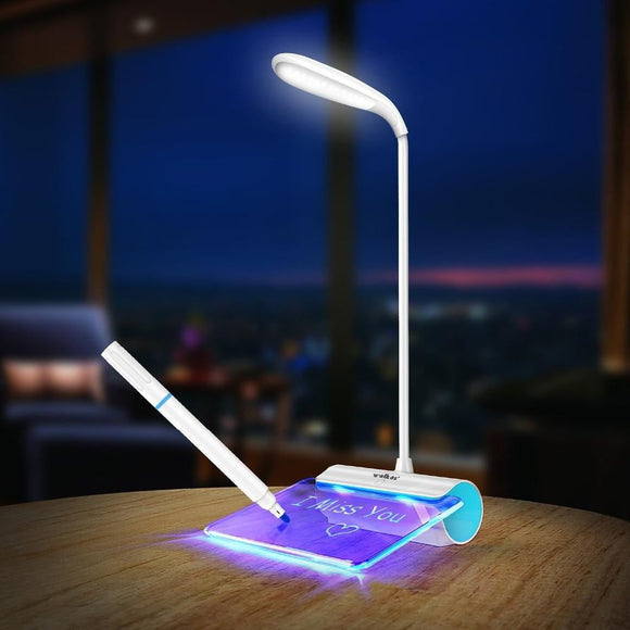 Rechargeable Desk LED Lamp with Message Board - My Gadgetsin