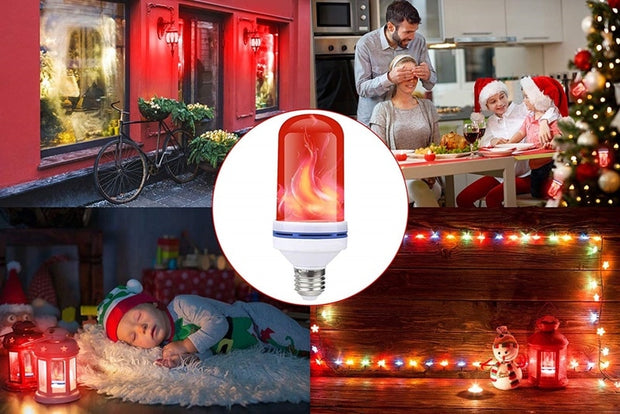 Red Flame Effect LED Bulb Flickering - Smart Choice Gears