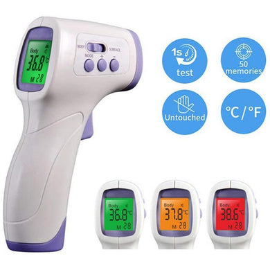 Non-contact Digital Infrared Thermometer Non Contact Temperature Gun Laser Handheld IR Temp Gun LCD Display Thermometer - Yes