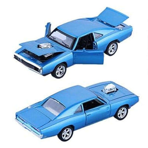 Dodge Charger Diecast Metal - Blue - Brinquedos