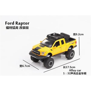F150 Pickup truck Ford Raptor escala 1:32 - Yellow - Brinquedos