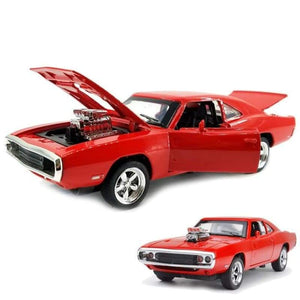 MINI AUTO 1:32 Dodge Charger - Red - Brinquedos