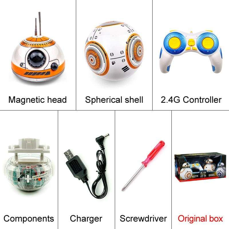 Robot RC BB8 Star Wars - With original box - Brinquedos