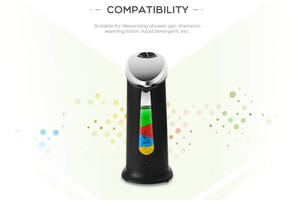 AD - 03 400ml ABS Electroplated Automatic Soap Dispenser Touchless Sanitizer Dispenser