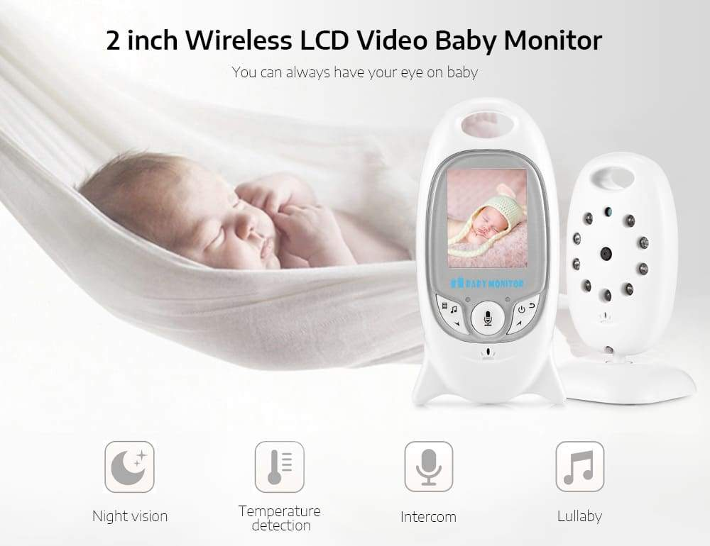 ZR601 Digital 2 inch 2.4GHz Wireless LCD Baby Video Monitor with Night Vision
