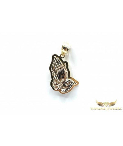 10K Gold 3D Praying Hands