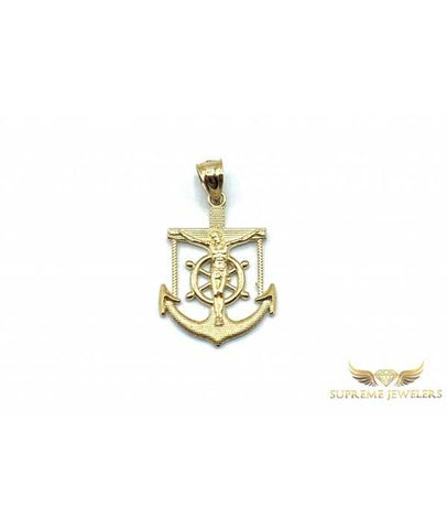10K Gold Anchor Pendant
