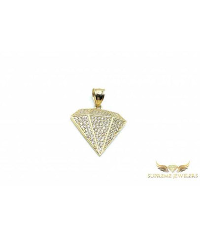 10K Gold Diamond Pendant