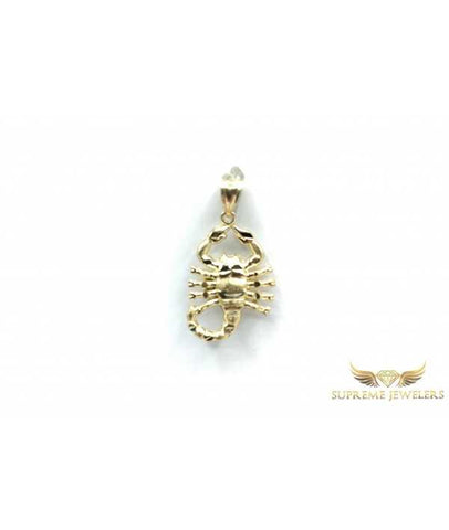 10K Gold Scorpion Pendant