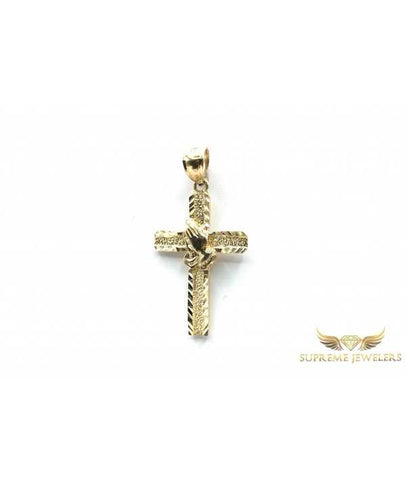 10K Gold Praying Hand Cross