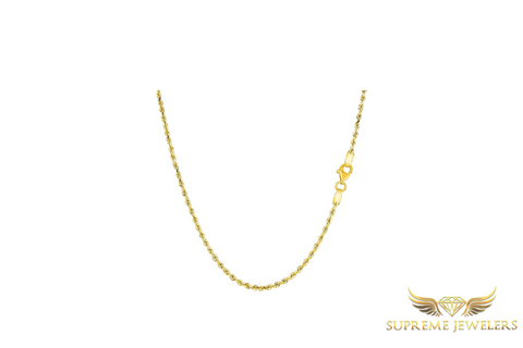 2.5mm 10K Gold Rope Chain (Hollow)