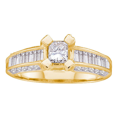 14kt Yellow Gold Princess Diamond Solitaire Bridal Wedding Engagement Ring 1 Cttw