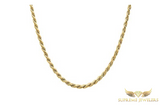 5mm 10K Gold Rope Chain (Hollow)