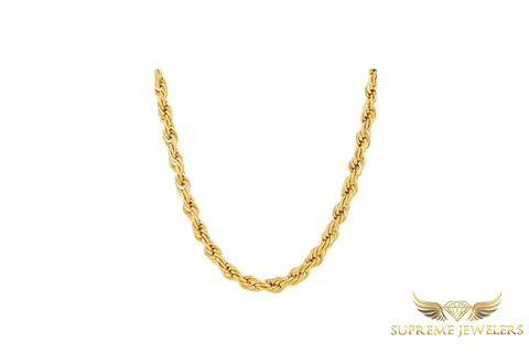 6mm 10K Gold Rope Chain (Hollow)