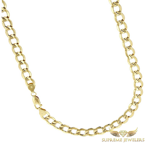 6mm 10K Gold Cuban Link