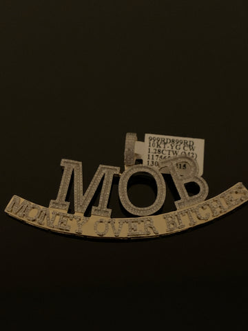 10k Gold and Diamond MOB Pendant (1.28 CTW)