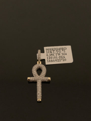 10k Gold and Diamond Ankh (.35 CTW)