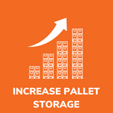 Move rack, narrow aisles, and increase warehouse pallet storage density