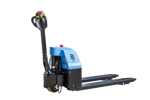 Light duty electric pallet jack for use in retail or manufacturing