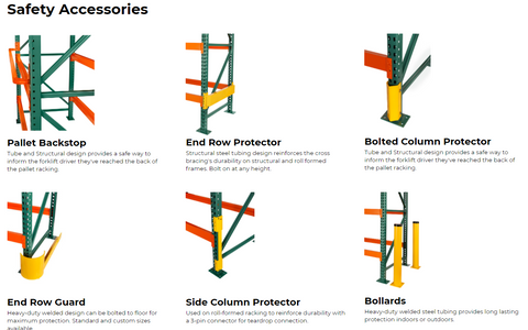 pallet rack protection accessories