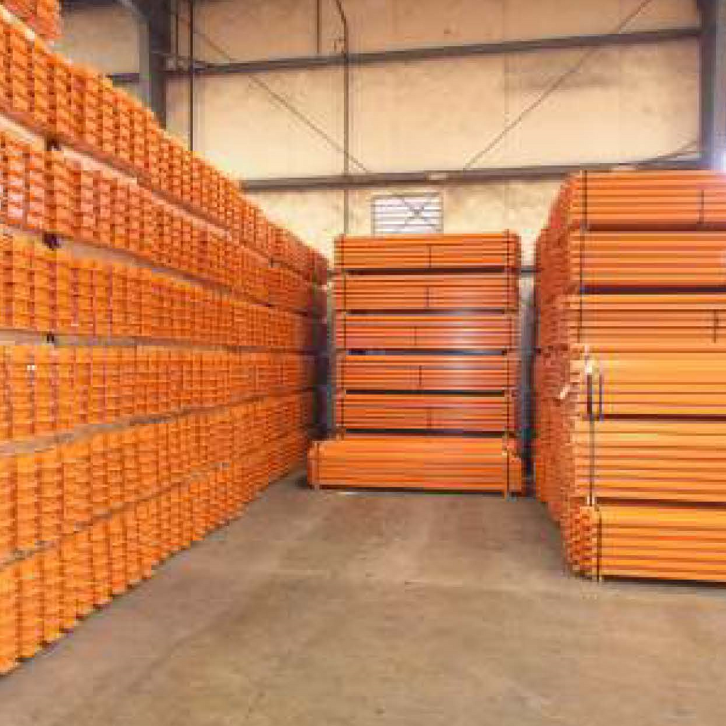 BUY PALLET RACKING BEAMS - Hannibal Industries pallet racking components.