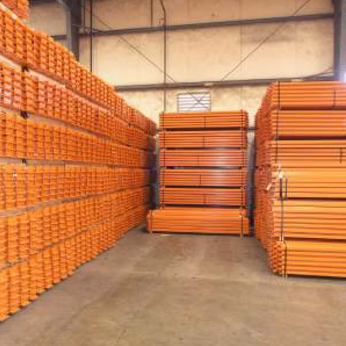 16 GAUGE PALLET RACKING BEAMS - Hannibal Industries pallet racking components.