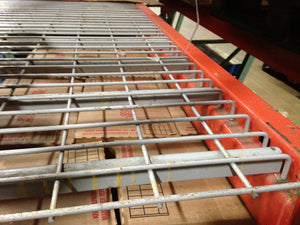 Wire mesh decking on pallet racking