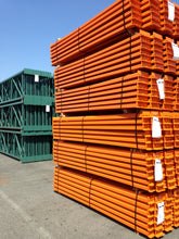 Load image into Gallery viewer, Stack of pallet racking beams ready for shipping