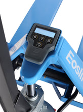 Load image into Gallery viewer, Close up of an electric pallet jack scale on a hand pallet truck