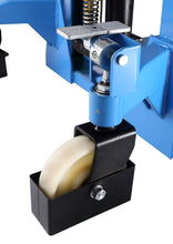Load image into Gallery viewer, Manual pallet stacker wheel and adjustable base legs