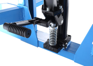 Manual pallet stacker wheel and adjustable base legs