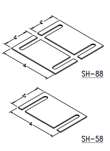 SHIM: 16 Gauge Slotted (sizes: 5 x 8, 8 x 8)