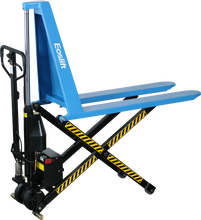 Load image into Gallery viewer, Manual pallet jack with extra lift - acts as a lift table for use with pallets with no bottom boards