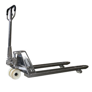 Stainless Steel pallet jack 3/4 view