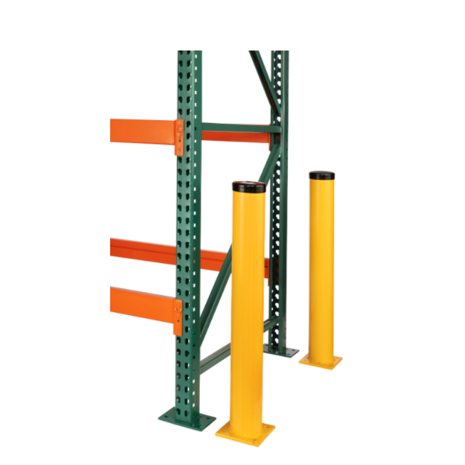 Bollards:  Heavy-duty welded steel tubing provides long lasting protection indoors or outdoors.