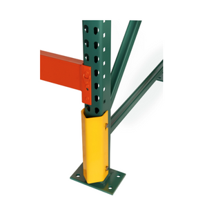 Column Protector:  Tube and Structural design provides a safe way to inform the forklift driver they've reached the back of the pallet racking.