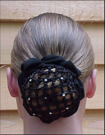 Hair Bun Cover with Rhinestones