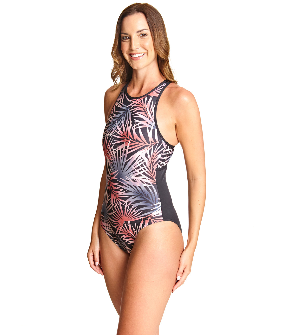 Sunset Palms Crossback One Piece