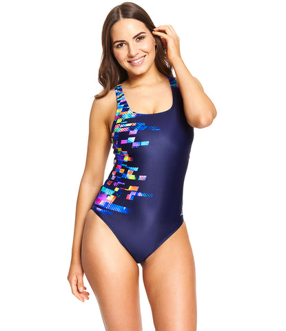 Womens Decoder Speedback In Navy Multi on Model