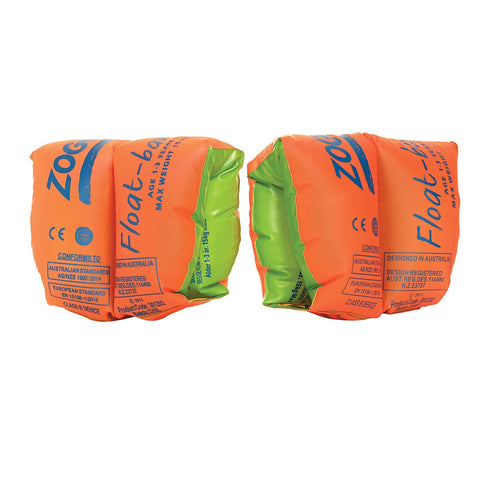 Zoggs Float Bands Orange Green 3-6 Years