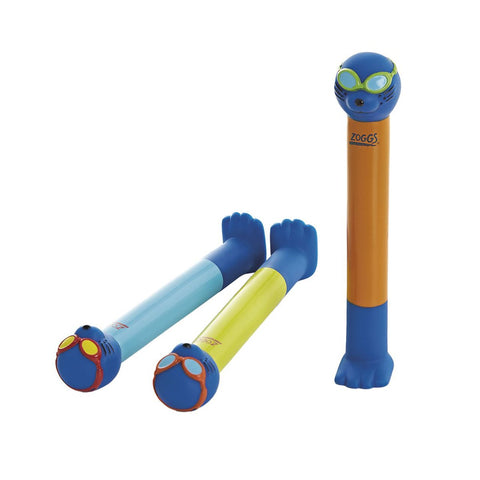 Zoggy Dive Sticks in Blue, Orange & Yellow