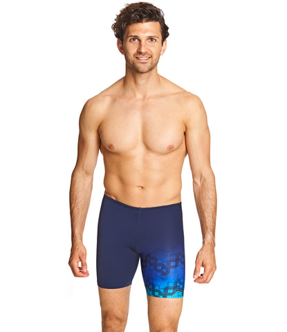 Mens Cryptic Mid Jammer Navy Blue on Model