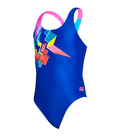 Girls Digital Geo Rowleeback One Piece
