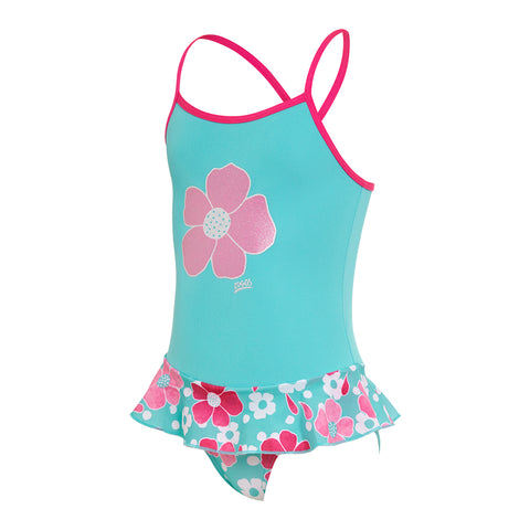 Girls Petal Magic Cross Back Swim Dress