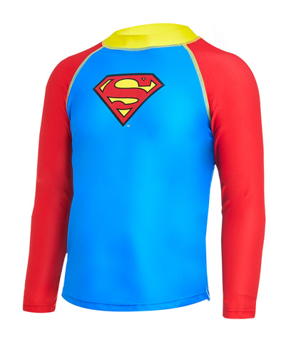 Superman Long Sleeve Sun Top