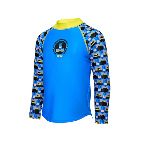 Kids Batman Long Sleeve Sun Top with Batman Motif