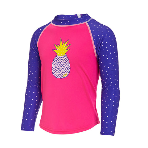 Girls Pine Crush Zip Sun Top