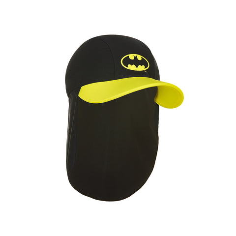 Kids Batman Sun Hat In Black and Yellow